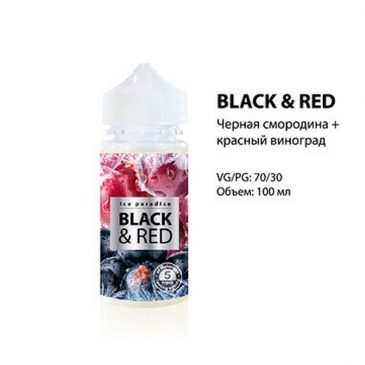 "ICE PARADISE ""BLACK&RED"" 100ML – Tinh Dầu Vape Nga"