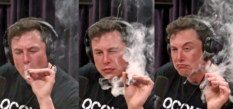 Elon Musk Smoking Weed With Joe Rogan Sparks Controversy 750x350